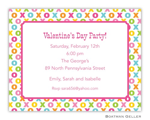 Boatman Geller Valentine Invite Hugs and Kisses 21210-Boatman Geller, Invitations, Valentine, Personalized