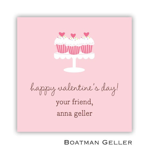 Boatman Geller Valentines Sticker Heart Cupcakes 21505-Stickers, Boatman Geller, Valentines