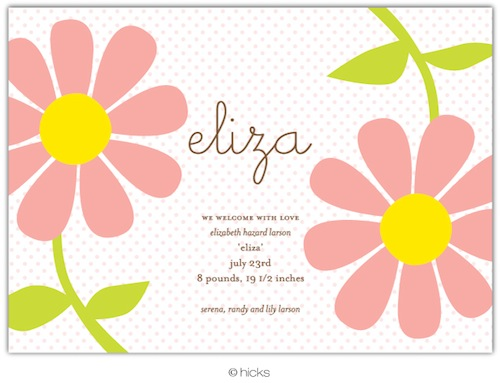Flower Party Invitation-hicks paper goods, flower, pink, birthday, party