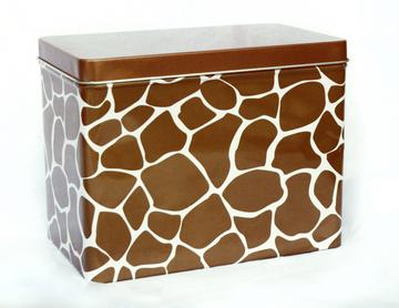 Whitney English Brown Giraffe Index Tin-Index Tin, receipe box, gift, whitney english, accessory