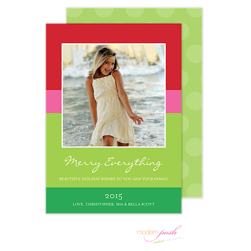 D7J2003 Modern Posh Holiday Photo Card-Holiday, Photo Card, Modern Posh, Christmas