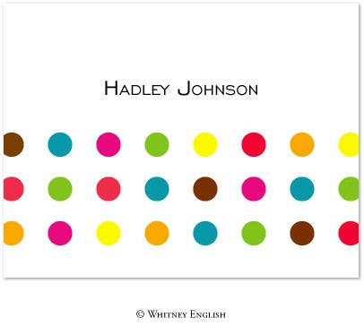 Whitney English Note Card Pop Dots Primary N-1106-Whitney English, Note card,