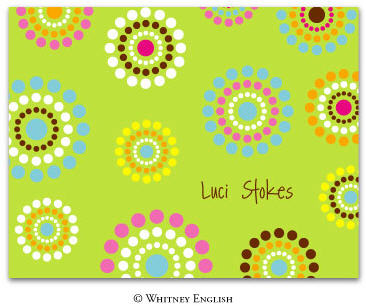 Whitney English Note Card Lime Bursts N-2064-Whitney English, Note card,