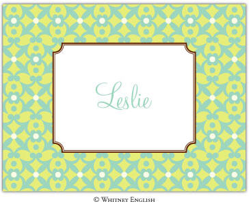 Whitney English Note Card Berkley Celadon N-5315-Whitney English, Note card,