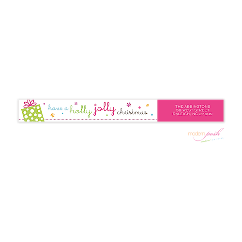 WAJ2008 Modern Posh Wrap Around Address Label-Return address labels, Modern Posh, holiday