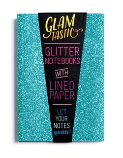 Ooly - Glamtastic Glitter Notebooks - Blue-pens, international arrivals, gifts, coloring books