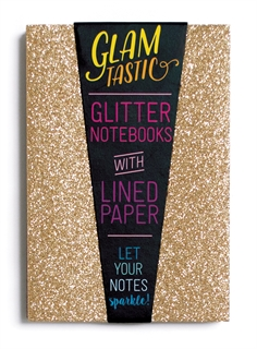 Ooly - Glamtastic Glitter Notebooks - Gold-pens, international arrivals, gifts, coloring books