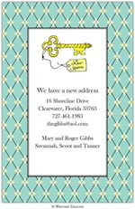 Key Invitation or Announcement-whitney english, move card, announcement, party, new address, change of address