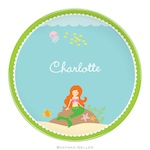 BG Plate - Mermaid - 19910-melamine, plates, boatman geller, gifts