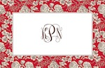 Boatman Geller Placemat - Floral Toile Red-placemats, boatman geller, gifts
