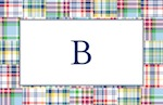 Boatman Geller Placemat - Madras Patch Blue-placemats, boatman geller, gifts