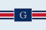 Boatman Geller Placemat - Grosgrain Ribbon Red & Navy-placemats, boatman geller, gifts