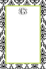Boatman Geller Notepad - Madison White with Black-boatman geller, notepads, acrylic