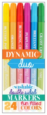 Dynamic Duo Double-Sided Markers-Gifts, pencils, pens