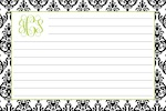 Boatman Geller Recipe Cards - Madison Damask White & Black-recipe cards, boatman geller, gifts