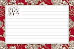 Boatman Geller Recipe Cards - Floral Toile Red-recipe cards, boatman geller, gifts