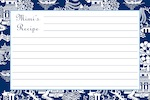 Boatman Geller Recipe Cards - Chinoiserie Navy-recipe cards, boatman geller, gifts