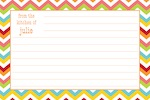 Boatman Geller Recipe Cards - Chevron Bright-recipe cards, boatman geller, gifts