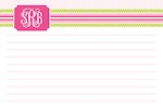 Boatman Geller Recipe Cards - Grosgrain Ribbon Pink & Green-recipe cards, boatman geller, gifts