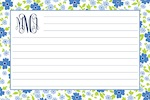 Boatman Geller Recipe Cards - Emma Floral Periwinkle-recipe cards, boatman geller, gifts