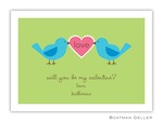 Boatman Geller Valentine Card- Love Birds 21200-Boatman Geller, Note Cards, Valentine, Personalized