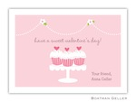 BG Valentine Card - Heart Cupcakes-Boatman Geller, Note Cards, Valentine, Personalized