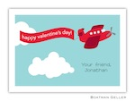 Boatman Geller Valentine Card - Red Airplane 21204-Boatman Geller, Note Cards, Valentine, Personalized