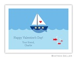 Boatman Geller Valentine Card - Heart Sailboat 21206-Boatman Geller, Note Cards, Valentine, Personalized