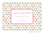 BG Valentine Card - Candy Hearts-Boatman Geller, Note Cards, Valentine, Personalized