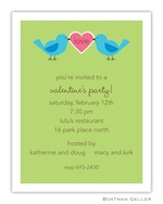 Boatman Geller Valentine Invite Love Birds 21213-Boatman Geller, Invitations, Valentine, Personalized