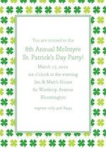 Boatman Geller Shamrocks St. Patrick's Day Invitation 21400-Boatman Geller, Invitations, St. Patrick's Day, Personalized