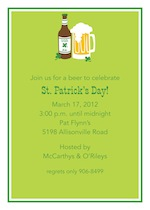 Boatman Geller Irish Ale St. Patrick's Day Invitation 21401-Boatman Geller, Invitations, St. Patrick's Day, Personalized
