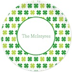 Boatman Geller St. Patrick's Day Plate Shamrocks 21909-St. Patrick's Day, melamine, plates, boatman geller, gifts