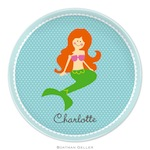 BG Plate - Mermaid Portrait - 21923-melamine, plates, boatman geller, gifts