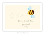 BG Valentine Card - Bee Valentine-Boatman Geller, Note Cards, Valentine, Personalized