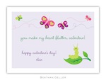 BG Valentine Card - Butterfly Valentine-Boatman Geller, Note Cards, Valentine, Personalized