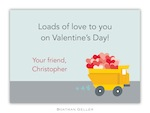 BG Valentine Card - Dump Truck-Boatman Geller, Note Cards, Valentine, Personalized