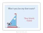BG Valentine Card - George Sailor Valentine-Boatman Geller, Note Cards, Valentine, Personalized