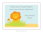 BG Valentine Card - Lion Valentine-Boatman Geller, Note Cards, Valentine, Personalized