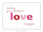 BG Valentine Card - Love Valentine Exchange-Boatman Geller, Note Cards, Valentine, Personalized