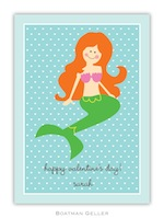 BG Valentine Card - Mermaid Valentine-Boatman Geller, Note Cards, Valentine, Personalized