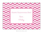 BG Valentine Card - Chevron Valentine Exchange-Boatman Geller, Note Cards, Valentine, Personalized