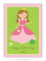 BG Valentine Card - Princess Valentine-Boatman Geller, Note Cards, Valentine, Personalized