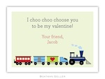BG Valentine Card - Train Valentine-Boatman Geller, Note Cards, Valentine, Personalized