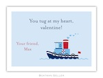 BG Valentine Card - Tugboat Valentine-Boatman Geller, Note Cards, Valentine, Personalized