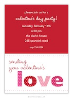 BG Valentine Invitation - Love Valentine-Boatman Geller, invitations, Valentine, Personalized