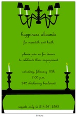 Candlelight (green) Party Invitation-hicks paper goods, green, birthday, party, halloween
