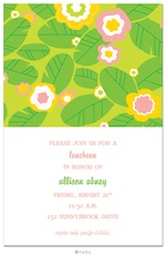 Floral Fantasy Green Party Invitation-hicks paper goods, invitation, birthday, party, hawaii, floral