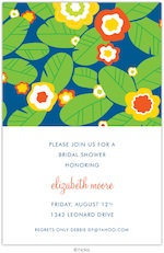 Floral Fantasy Navy Party Invitation-hicks paper goods, navy, floral, hawaii, birthday, party