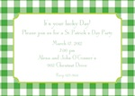 Boatman Geller Classic Check Kelly & Lime St. Patrick's Day Invitation-Boatman Geller, Invitations, St. Patrick's Day, Personalized